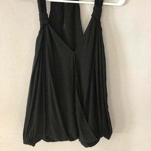 Zara basic black racer back tank top medium